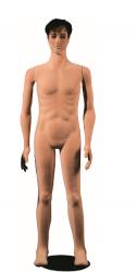 Poly Star Man, pohybovatelná pánská figurína, provedení flock, tělová s make-up, bez paruky