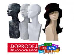Hlavy polystyrenové barevné
