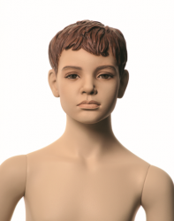 Q-Kids dětská figurína Albert 8 roků, postoj 1, prolisované vlasy, tělová