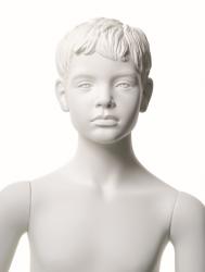 Q-Kids dětská figurína Albert 8 roků, postoj 2, prolisované vlasy, bílá