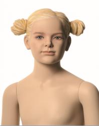 Q-Kids dětská figurína Alice 6 roků, postoj 1, prolisované vlasy, tělová