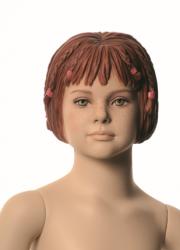 Q-Kids dětská figurína Cara 4 roky, postoj 3, prolisované vlasy, tělová