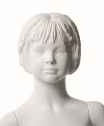 Q-Kids dětská figurína Cara 4 roky, postoj 3, prolisované vlasy, bílá
