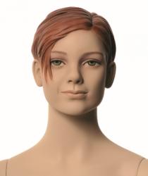 Q-Kids dětská figurína Cher 10 roků, postoj 1, prolisované vlasy, tělová