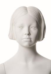 Q-Kids dětská figurína Dawn 8 roků, postoj 2, prolisované vlasy, bílá