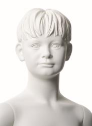 Q-Kids dětská figurína Floyd 6 roků, postoj 2, prolisované vlasy, bílá
