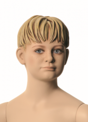 Q-Kids dětská figurína Floyd 6 roků, postoj 2, prolisované vlasy, tělová
