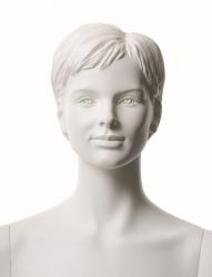 Q-Kids dětská figurína Janet 12 roků, postoj 1, prolisované vlasy, bílá