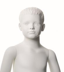 Q-Kids dětská figurína Mason 4 roky, postoj 3, prolisované vlasy, bílá