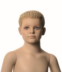 Q-Kids dětská figurína Mason 4 roky, postoj 3, prolisované vlasy, tělová