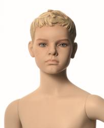 Q-Kids dětská figurína Morris 10 roků, postoj 1, prolisované vlasy, tělová