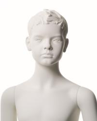 Q-Kids dětská figurína Morris 10 roků, postoj 2, prolisované vlasy, bílá