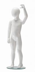 Ringo dětská figurína, 4 roky, postoj 2, lesklá bílá