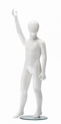 Ringo dětská figurína, 6 let, postoj 1, lesklá bílá