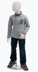 Ringo dětská figurína, 6 let, postoj 2, lesklá bílá