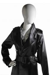 Ringo Female, postoj 1, dámská figurína, abstraktní hlava, bílá lesklá