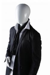 Ringo Male, postoj 2, pánská figurína, abstraktní hlava, bílá lesklá