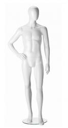 Ringo Male, postoj 3, pánská figurína, abstraktní hlava, bílá lesklá