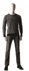 Ringo Male, postoj 4, pánská figurína, abstraktní hlava, bílá lesklá