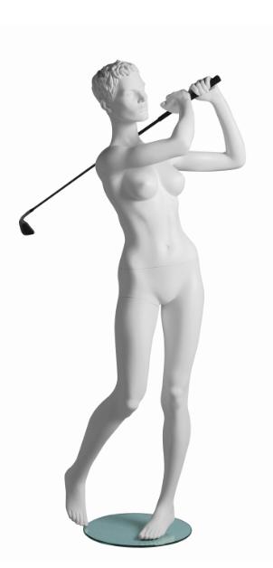 Vanessa Golfer sportovní figurína, prolisované vlasy, bílá