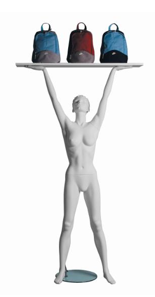 Vanessa Lifter sportovní figurína, prolisované vlasy, bílá