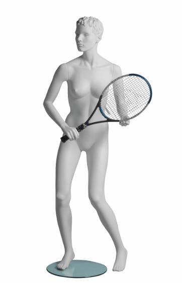 Vanessa Tennis sportovní figurína, prolisované vlasy, bílá