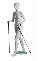 Vanessa Walker sportovní figurína, prolisované vlasy, bílá