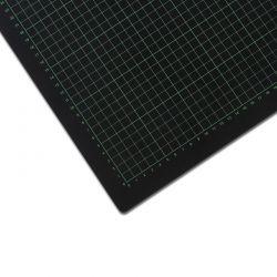Řezací podložka 120x90 cm, černo/černá, jednostranná, tloušťka 3 mm
