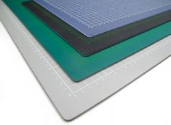 Řezací podložka 150x100 cm, černo/černá, jednostranná, tloušťka 3 mm